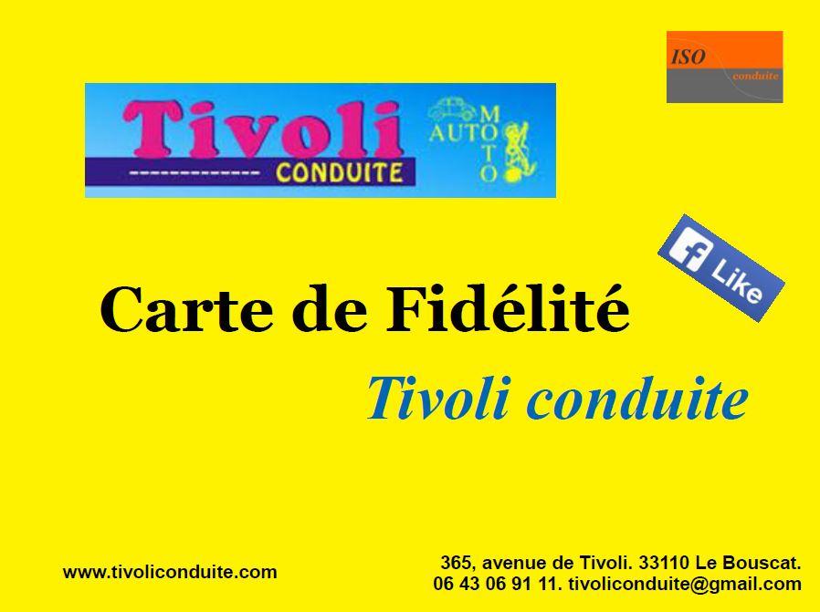 Carte fidélité Tivoli